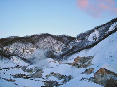 山の上の温泉