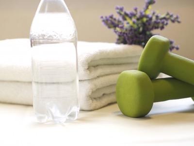 水とタオル